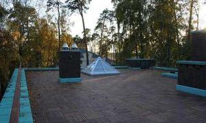 Каркасный дом с плоской крышей