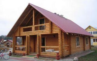 Дизайн и фото домов из оцилиндрованного бревна
