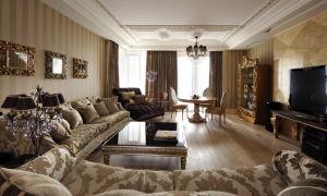 Классические интерьеры гостиных в современных квартирах