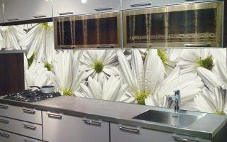 Стеновая панель для кухни — пластик в классическом кухонном интерьере