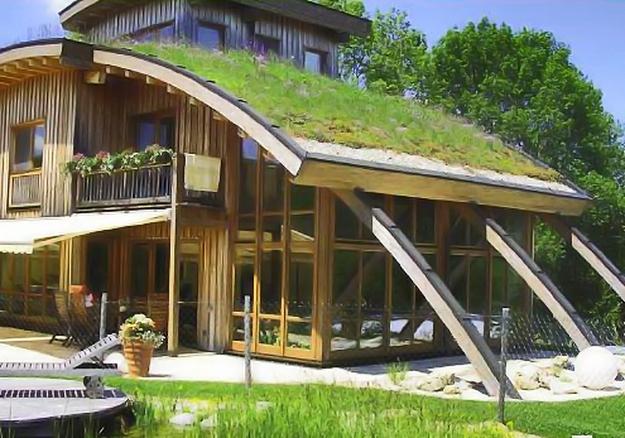 Необычные крыши домов крыша из дерна