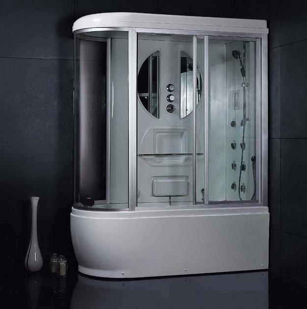 12 Интерьер ванной комнаты с кабиной 3