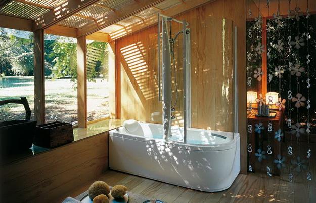 12 Интерьер ванной комнаты с кабиной 5