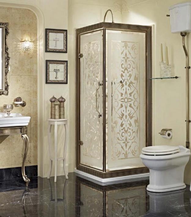 12 Интерьер ванной комнаты с кабиной 8