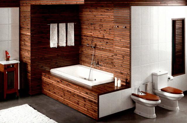 Дизайн ванной в деревянном доме 2