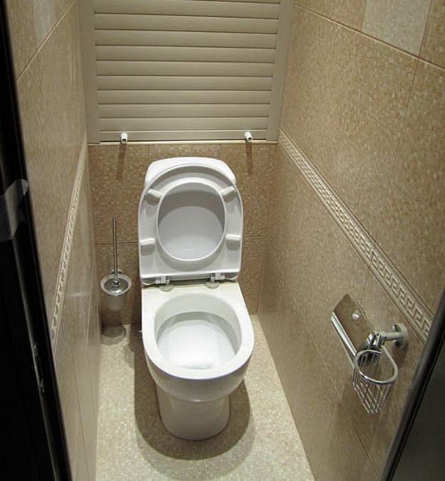 Интерьер маленького туалета фото 1