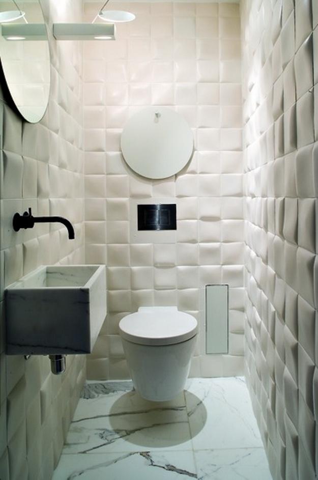 Интерьер маленького туалета фото 10