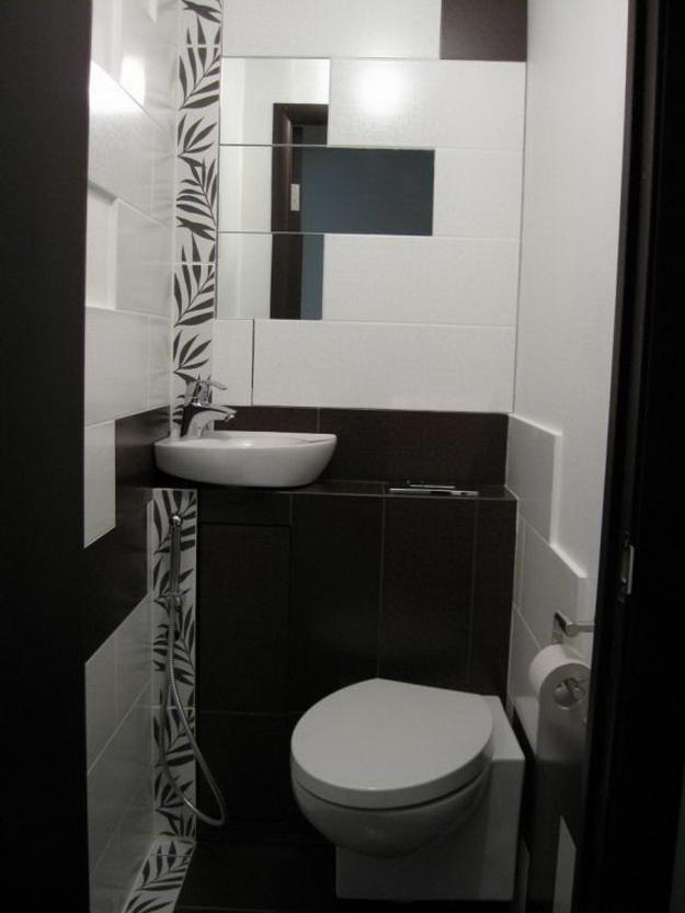 Интерьер маленького туалета фото 2