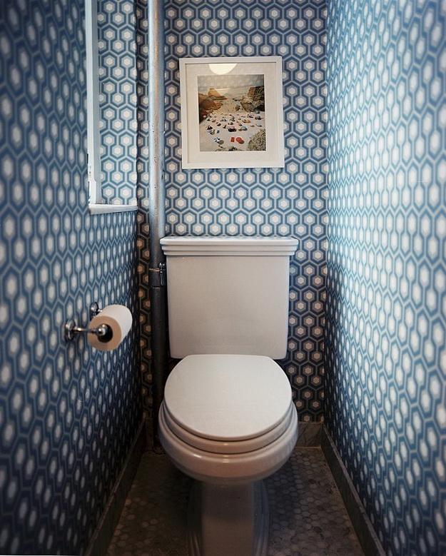 Интерьер маленького туалета фото 6