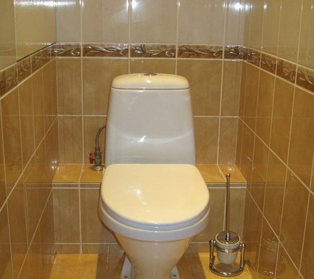 Интерьер маленького туалета фото А