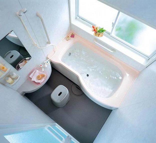 Интерьер маленькой ванной комнаты фото 1