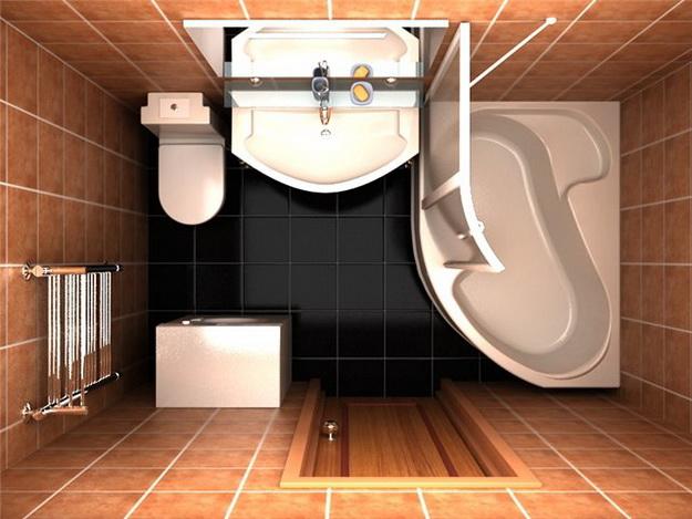 Интерьер маленькой ванной комнаты фото 10