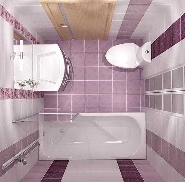 Интерьер маленькой ванной комнаты фото 2