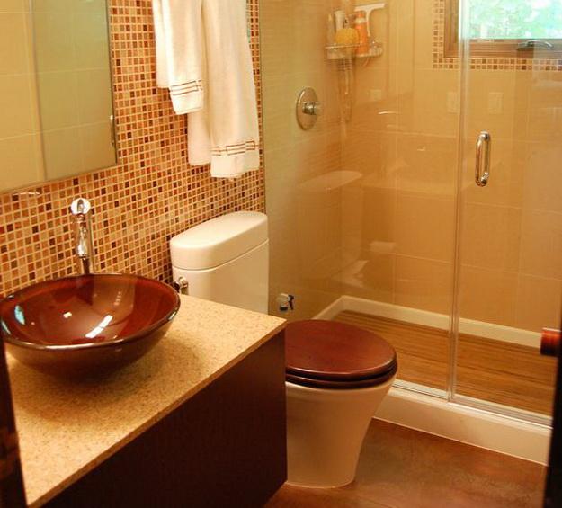 Интерьер маленькой ванной комнаты фото 6