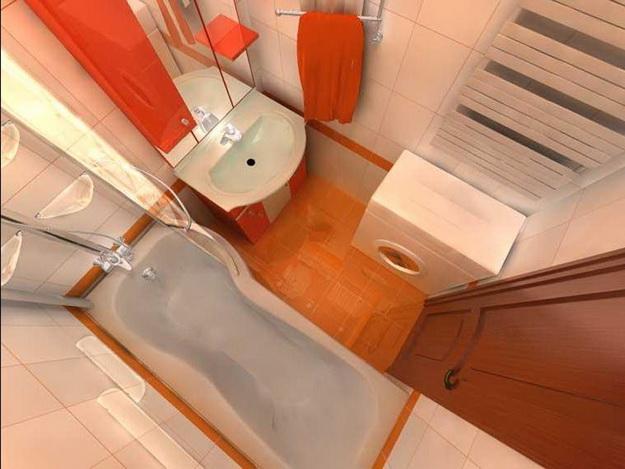 Интерьер маленькой ванной комнаты фото 9