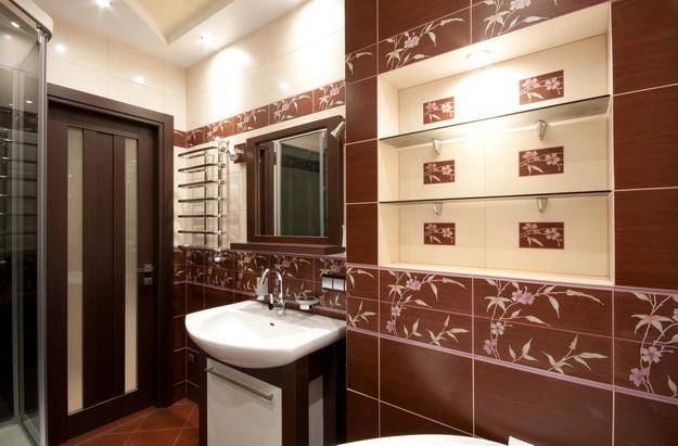 Дизайн туалета в кирпичном доме 1