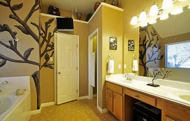 Дизайн туалета в кирпичном доме 5