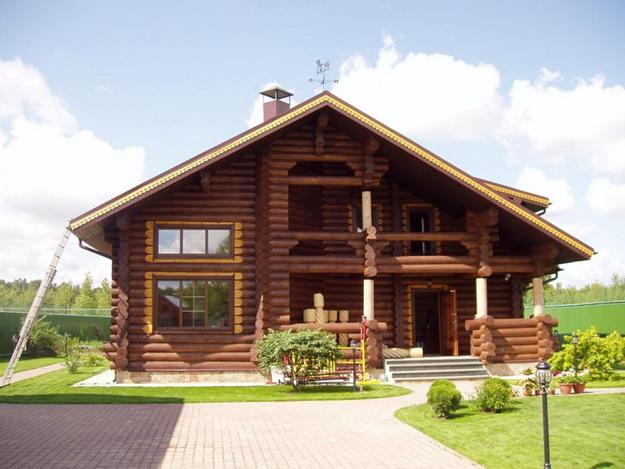 фото дом из цилиндрованного бревна