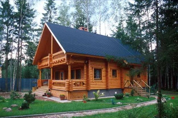 Дома из оцилиндрованного бревна фото 12