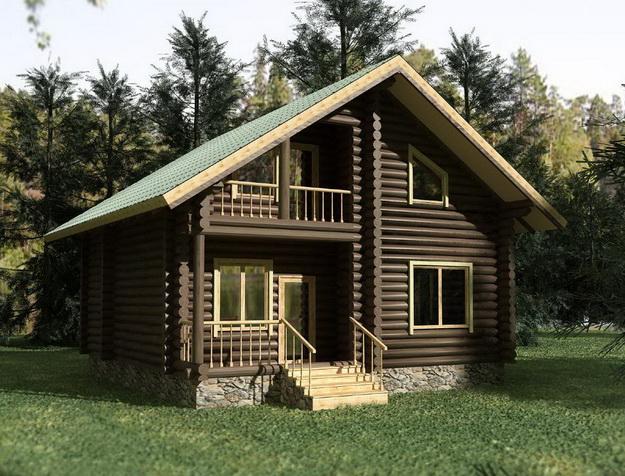 Дома из оцилиндрованного бревна фото 13