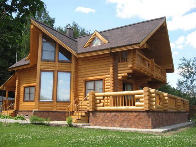 Дома из оцилиндрованного бревна фото 16