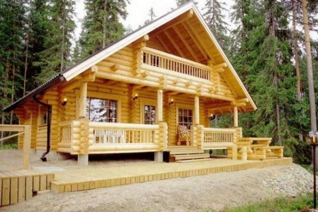 Дома из оцилиндрованного бревна фото 2