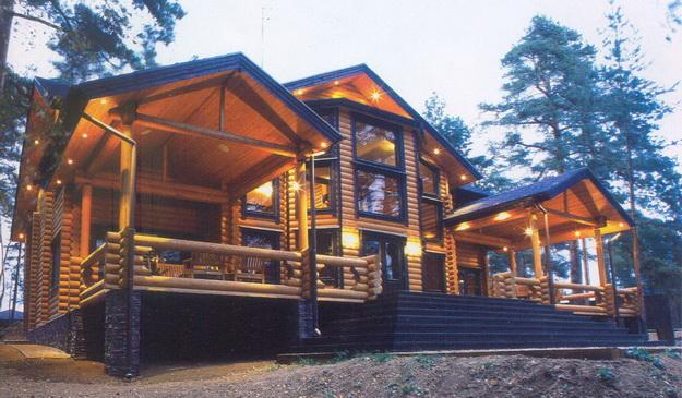 Дома из оцилиндрованного бревна фото 6