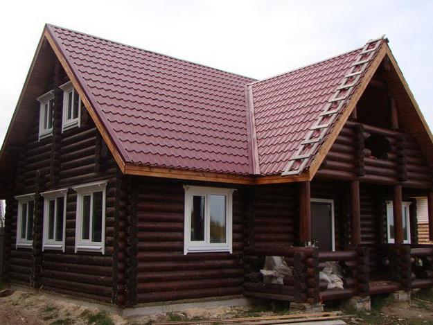 Дома из оцилиндрованного бревна фото 7