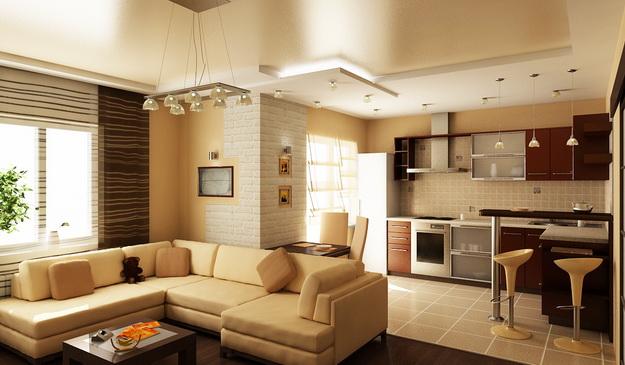 Когда гостиная и кухня вместе – фото удачных вариантов 1