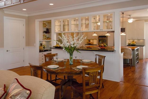 Когда гостиная и кухня вместе – фото удачных вариантов 5