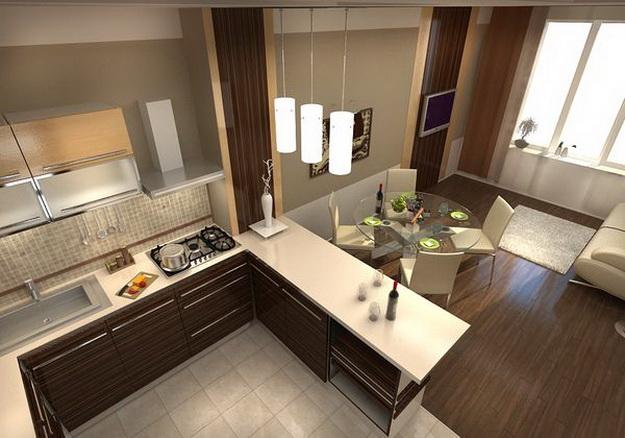 Когда гостиная и кухня вместе – фото удачных вариантов 8