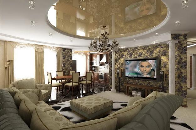 Интерьер гостиной в классическом стиле 1