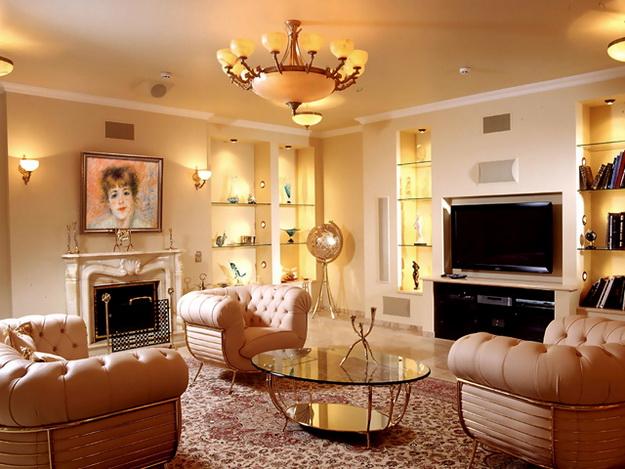 Интерьер гостиной в классическом стиле 7