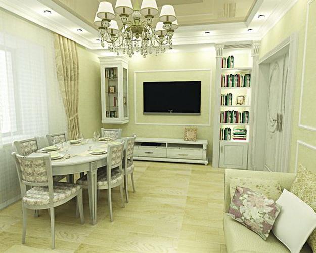 Интерьер гостиной в классическом стиле 8