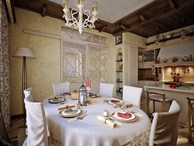 Кантри-кухня в частном доме и в городской квартире 6