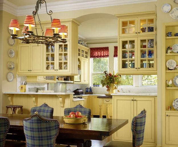 Кантри-кухня в частном доме и в городской квартире 7