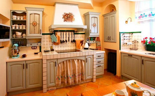 Кантри-кухня в частном доме и в городской квартире 8