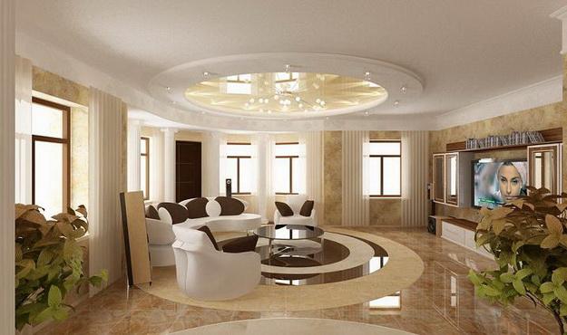 Классические интерьеры гостиных в современных квартирах 3