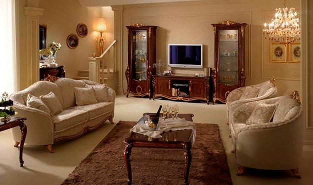 Классические интерьеры гостиных в современных квартирах 5