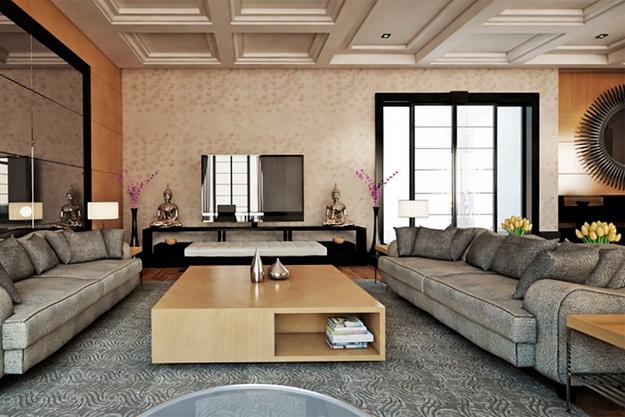 Классические интерьеры гостиных в современных квартирах 6