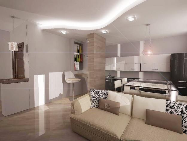Дизайн проект – кухня гостиная 20 кв. м. 1