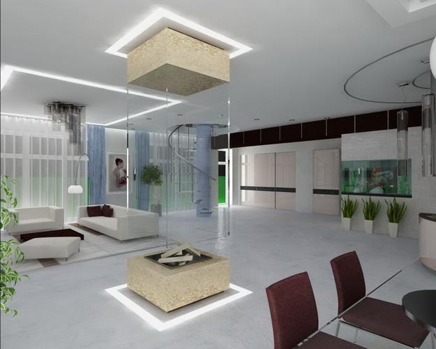 Хай-тек дизайн кухни гостиной на фото 5