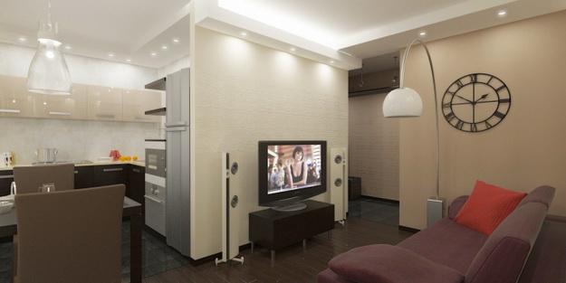 Маленькая гостиная кухня в хрущевке – эффективный дизайн 1