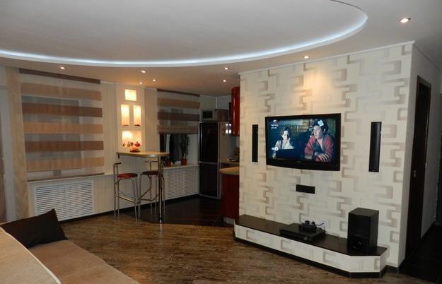 Маленькая гостиная кухня в хрущевке – эффективный дизайн 2