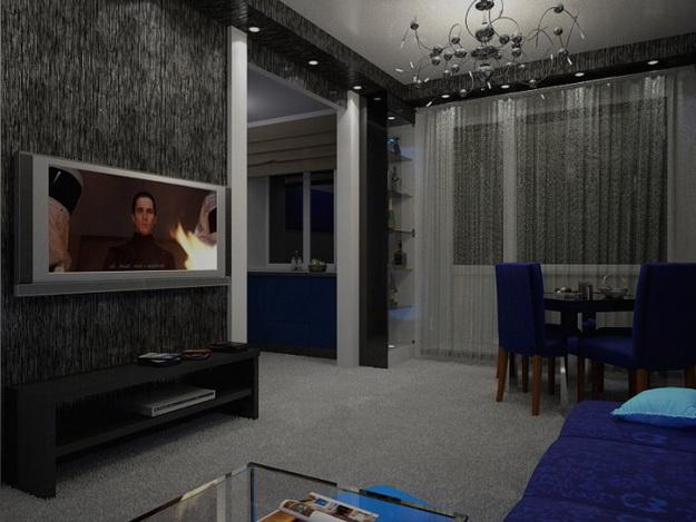 Маленькая гостиная кухня в хрущевке – эффективный дизайн 6