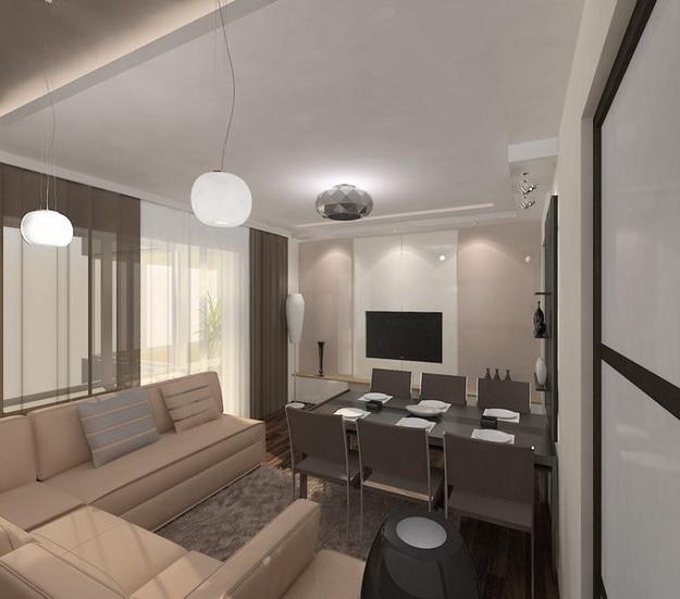 Интерьер кухни совмещенной с гостиной - практичная красота 6