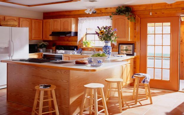 Обустраиваем кухню в деревянном доме - дизайн и интерьер 3