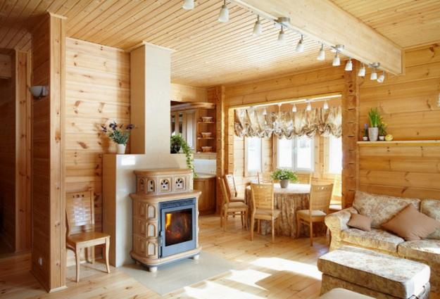 Обустраиваем кухню в деревянном доме - дизайн и интерьер 7
