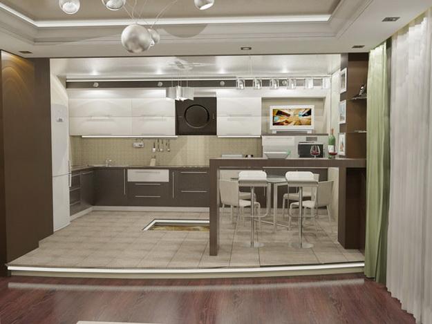 Современный дизайн кухни студии - кто во что горазд 4