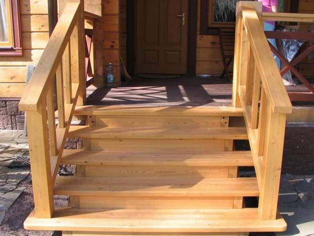 Крыльцо деревянного дома - фотогалерея разных вариантов 1